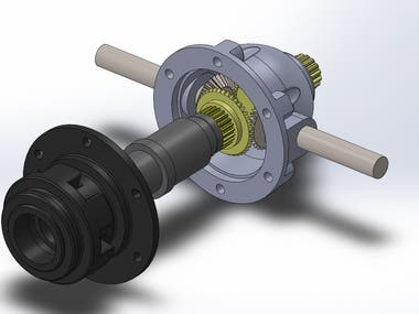 CAD modeling Car Differential