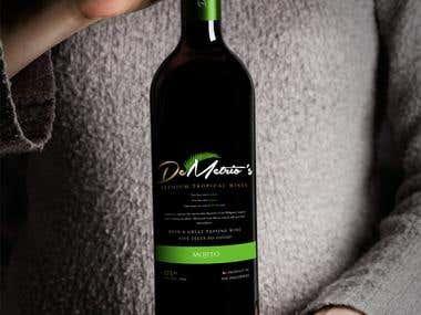 Label design for De Metrio's