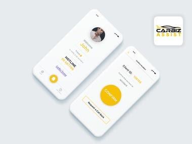 Carbiz Assist App Design