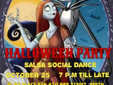 Poster/ Flyer For Halloween Party