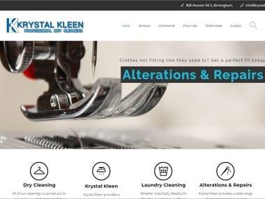 Krystal Kleen Dry Cleaners Static Site