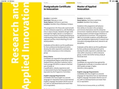 Curriculum Development - Master of Applied Innovation