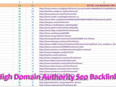 High Domain Authority Profile Creation Seo Backlinks