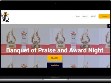 Website design and management for banquetofpraise.com