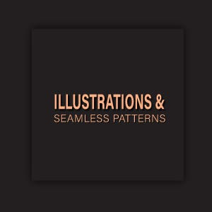 Illustration and seamless patterns