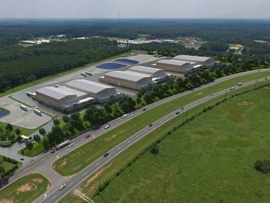 3d warehouses, photomontage