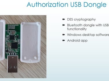 Authorization USB Dongle