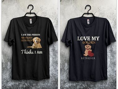 T-shirt for Golden Retriever Dog Collection-2019