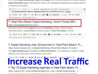 Increase real traffic on your website