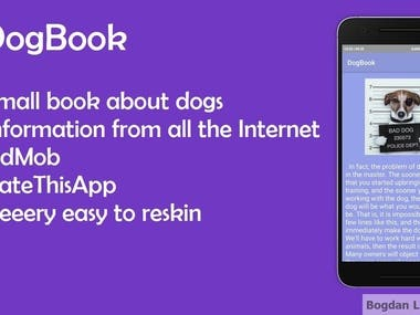 Book about dogs - Android app