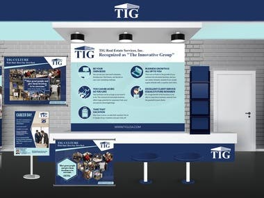 Booth Space Design and Signage Design