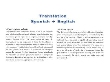 Translation from Spanish to English