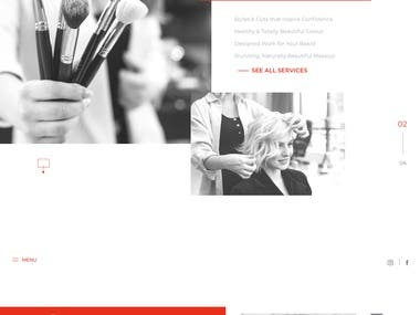 Landing Page for Hair studio Website