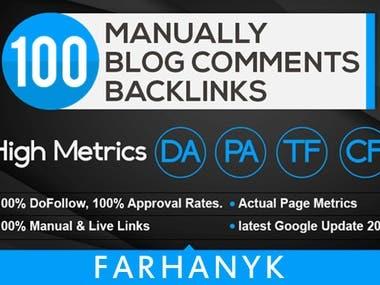make 100 fantastic blog comments on your website to rocket