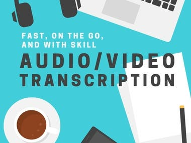 Transcription-PDF To word,Excel or Audio,Video