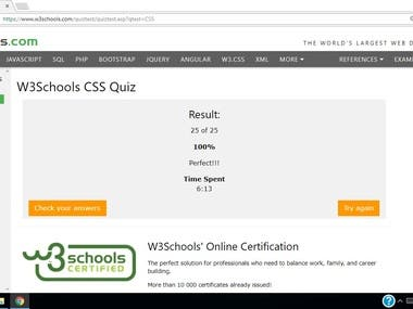 CSS Quiz created by W3C - Global coding consortium
