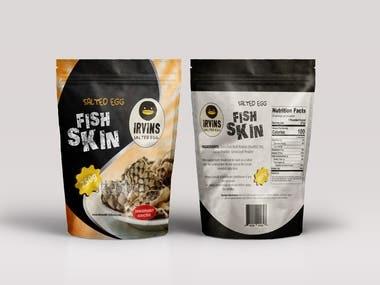 Fish skin packaging