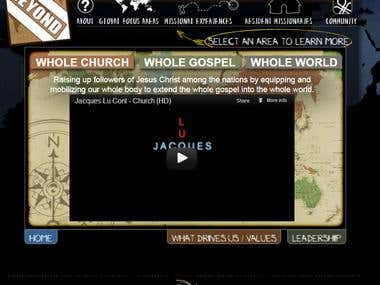 Church template design and development