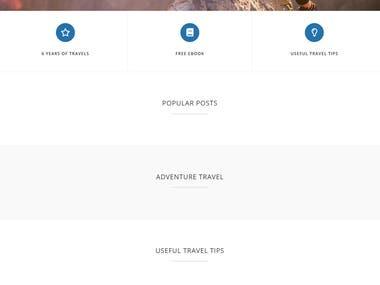 Travel Blog in Wordpress