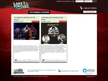 Lake Of the Torches Tickets
