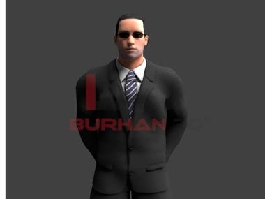 High Quality Bodyguard Male 3D Model For Turbosquid