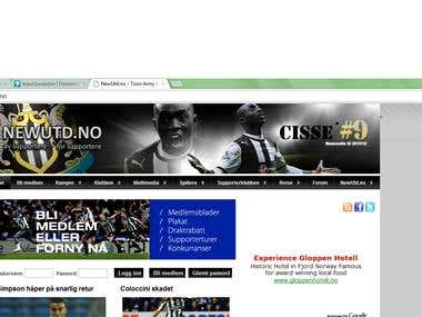 Norwegian footbal news and forum website (newutd.no)