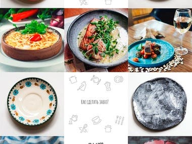 Instagram account feed design