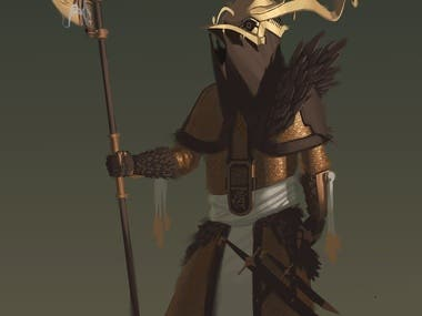 Court guard character design