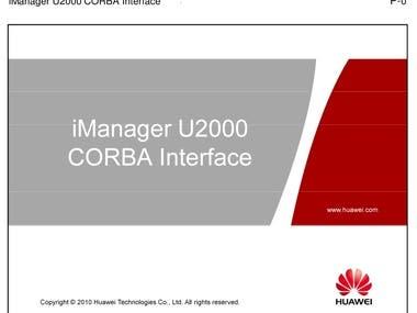Huawei U2000 Element Performance Metric via CORBA
