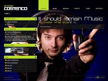 DJ / Artist Website