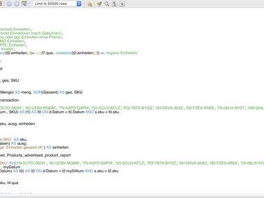 complex SQL queries for sales report creation