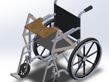 3D Wheel chair Design, 3D modeling & Analysis