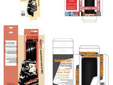 graphic designs - layouts, packaging, character design