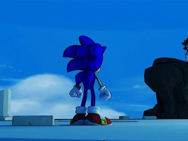 "3D Animated Shorts: "" Super Sonic - The Last Round """