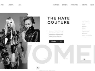 WHITE AND BLACK - UI/UX design