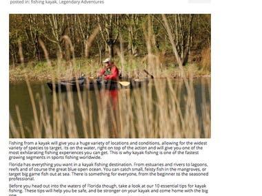 Blog Writing for Kayak Company