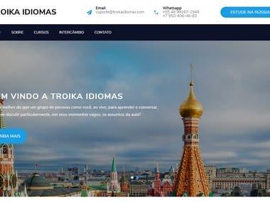 Freelance website for Troika Idiomas