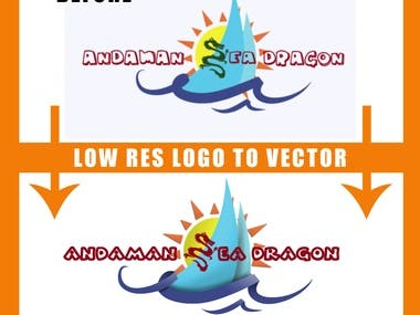 low res logo to very high vector