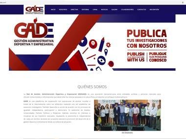Desarrollo de sitio web RED GADE