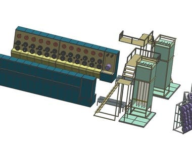 plant for thermal process of wire manufacturing
