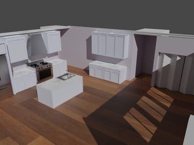 3D Kitchen Design Render