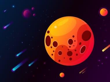 Art cosmos in Illustrator