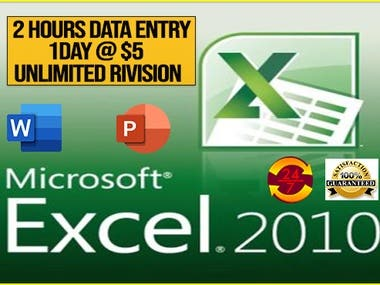 I will do excel or word data entry efficiently.