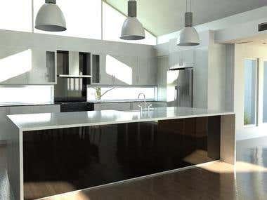 Interior Rendering - Kitchen