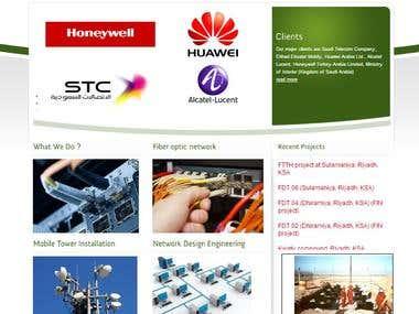 integbase.com Corporate Telocom Web development