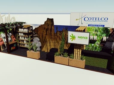Booth for fair in Cali.