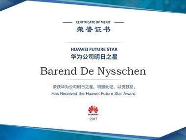 Future Star Award Huawei Technologies