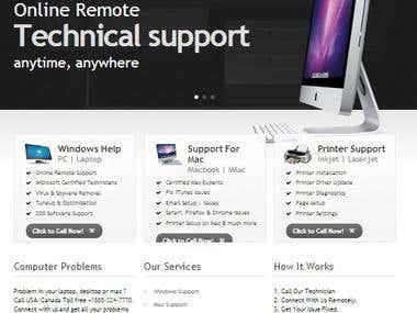 Tech support / PC repair website development