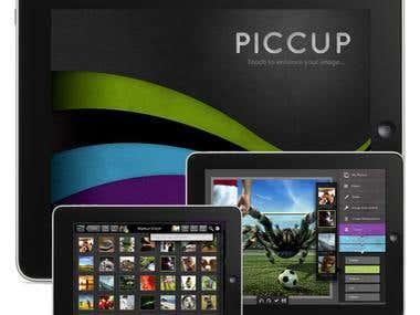PICCUP-Photo Editing iPad App UI Design