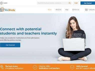 WooStudy Web UI Design